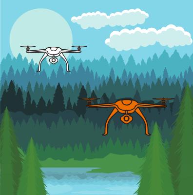 drones plantas