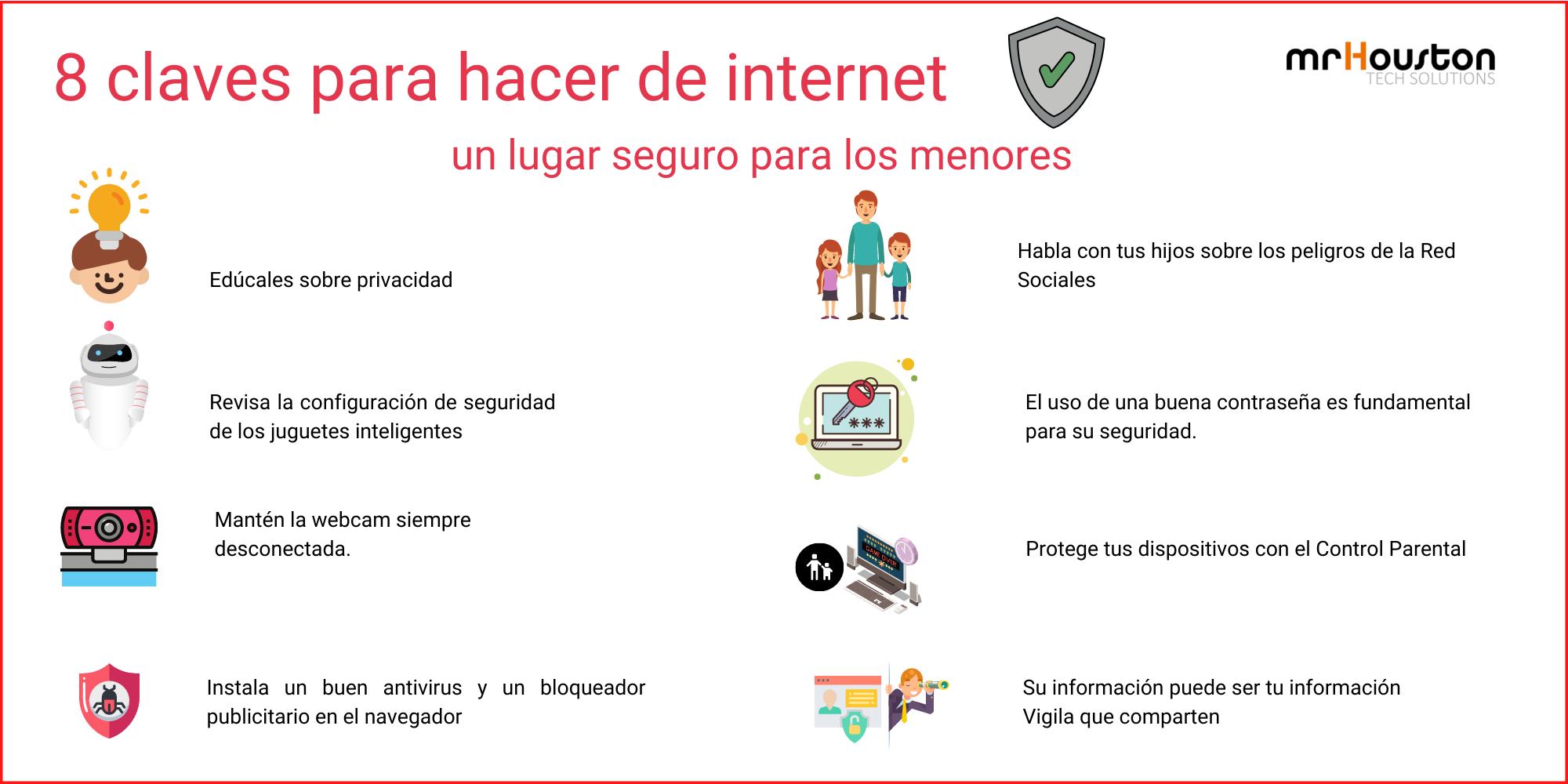 8 claves para hacer internet seguro para los niños